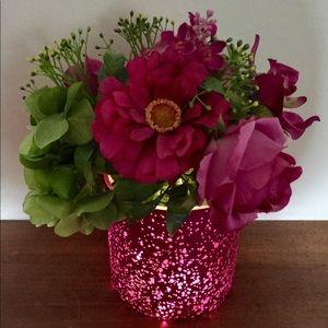 Light Up Vase/Pot Flower Arrangement LED